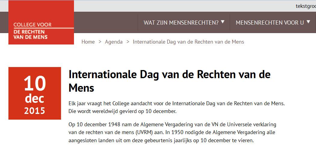rechten van de mens nederland